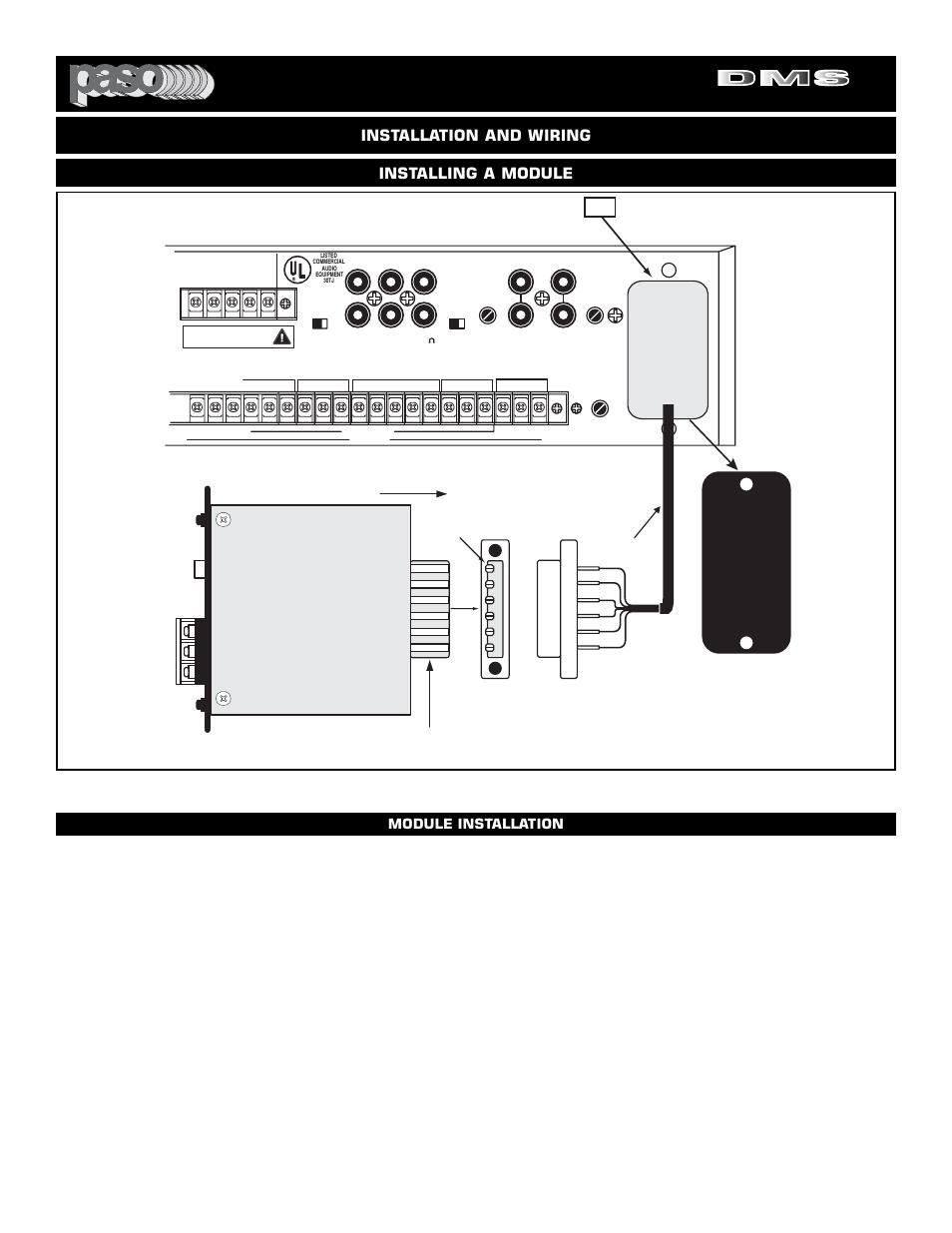 Digital music amplifiers, Page 22, Module installation | El Paso ...