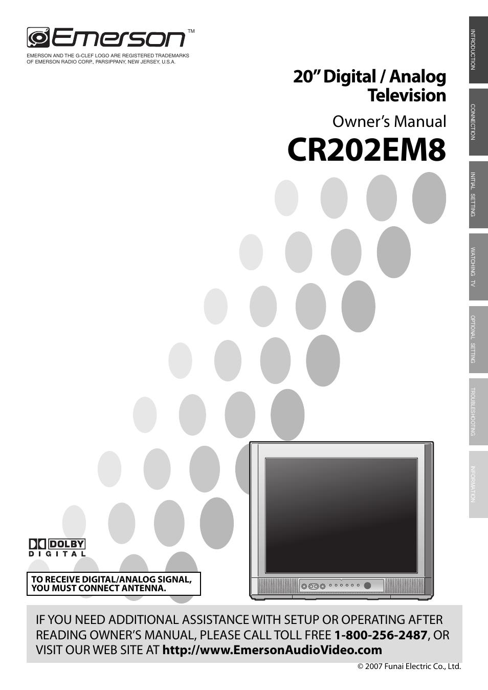 emerson cr202em8 user manual 52 pages rh manualsdir com emerson tv user guide emerson tv ltdn42v68us owners manual