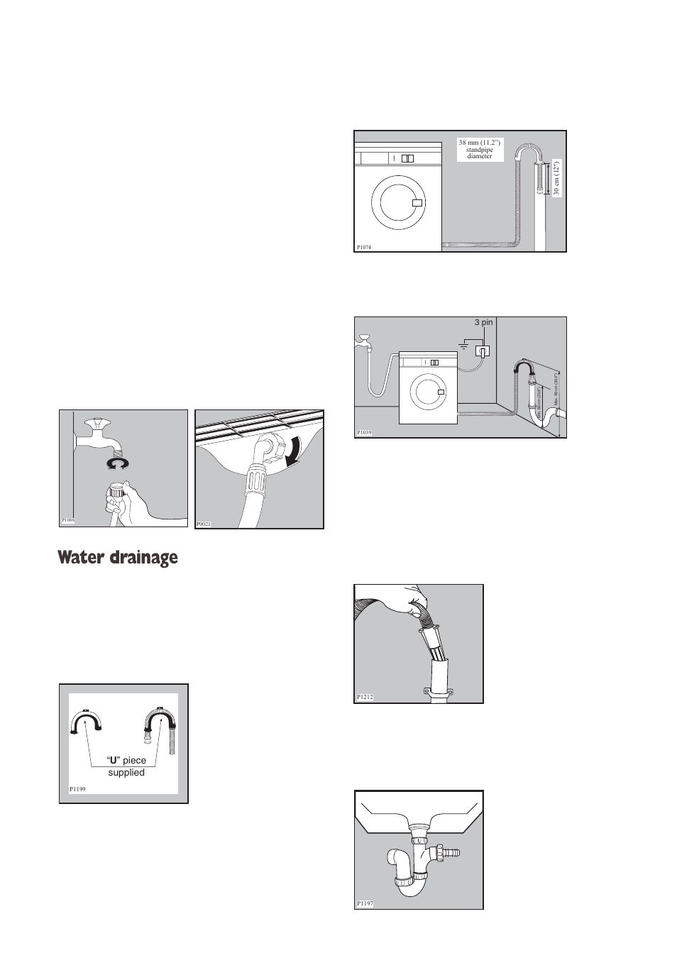 water drainage electrolux aqualux ewd 1214 i user manual page 25 rh manualsdir com User Manual PDF User Manual Template