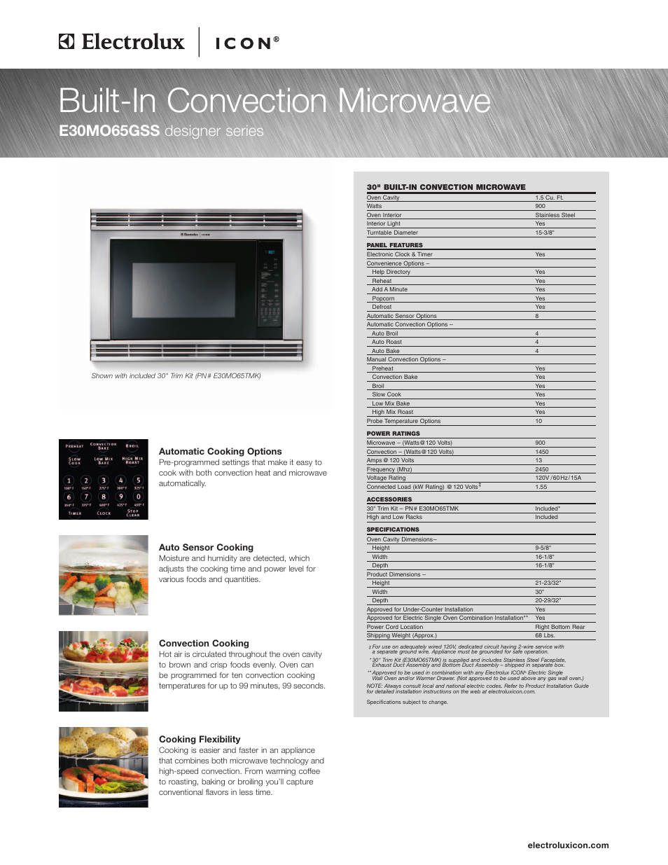 electrolux icon e30mo65gss user manual 4 pages rh manualsdir com Car ManualsOnline Product Factory Service Manuals