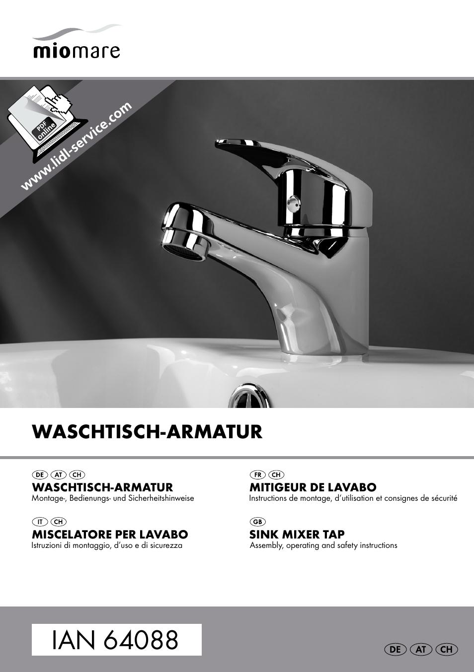 Miomare Sink Mixer Tap / Kitchen Mixer Tap / Bath and Shower Mixer ...