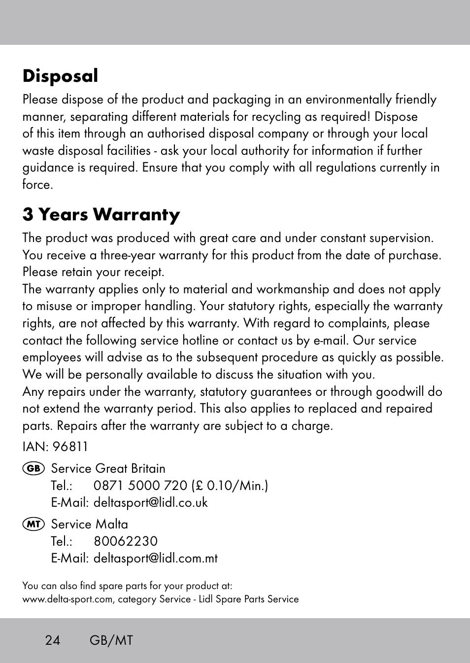 disposal, 3 years warranty | playtive swing trapezschaukel user