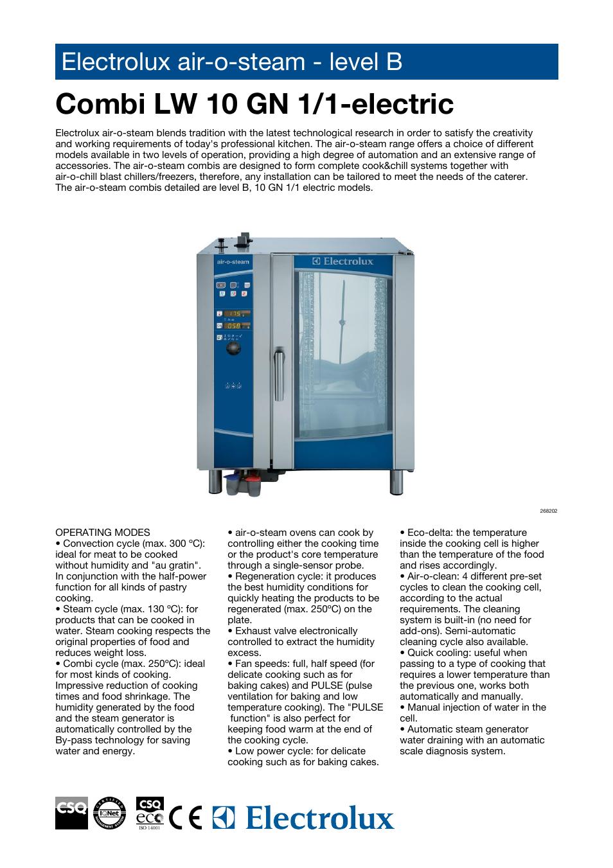 Electrolux Air-O-Steam AOS101EBA2 User Manual | 4 pages | Also for:  Air-O-Steam 268202, Air-O-Steam AOS101EBH2, Air-O-Steam 268212, Air-O-Steam  AOS101EBN2, ...