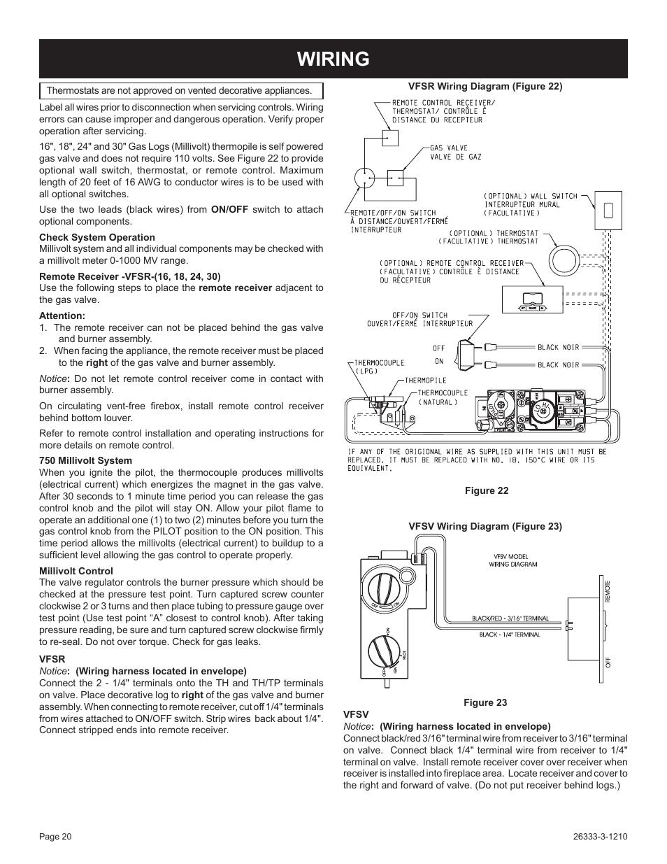 wiring empire comfort systems vfsr 24 3 user manual. Black Bedroom Furniture Sets. Home Design Ideas