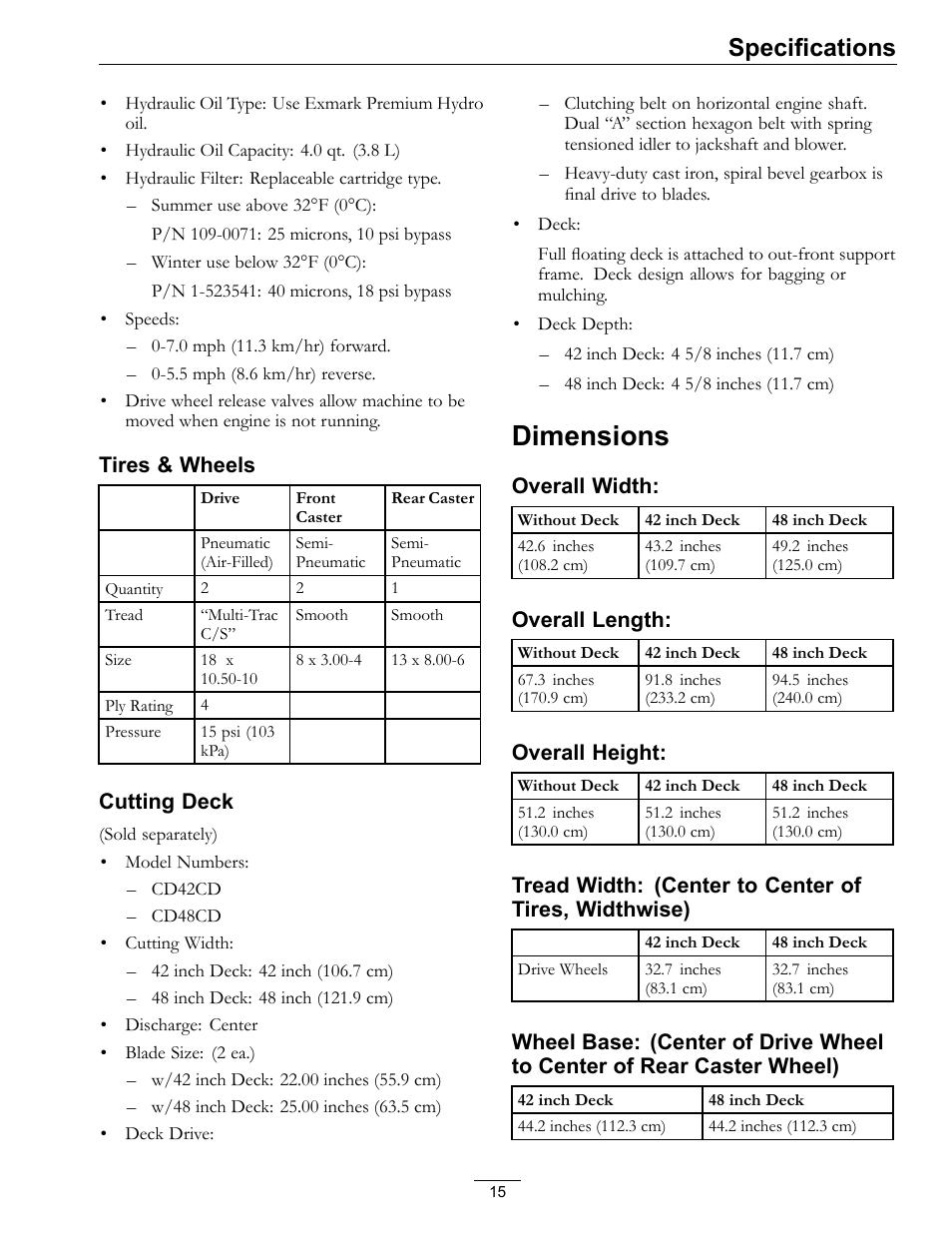 dimensions specifications exmark navigator 0 user manual page rh manualsdir com exmark navigator manuel exmark navigator manuel