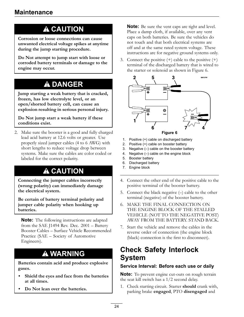 check safety interlock system caution danger exmark navigator 0 rh manualsdir com Exmark Navigator Hopper Exmark Navigator Hopper