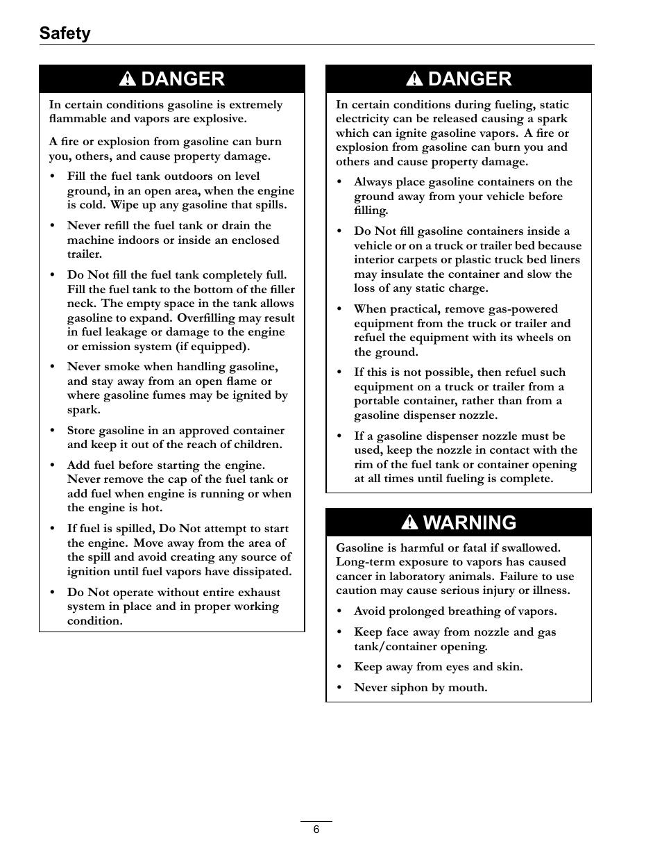 danger warning safety exmark navigator 0 user manual page 6 rh manualsdir com exmark navigator parts manual exmark navigator deck manual