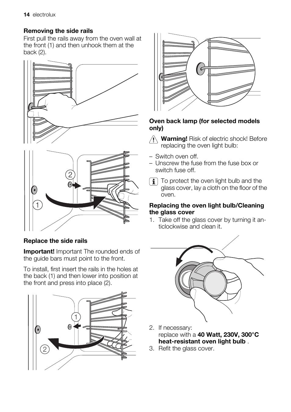 Electrolux Eou43003 User Manual Page 14 24
