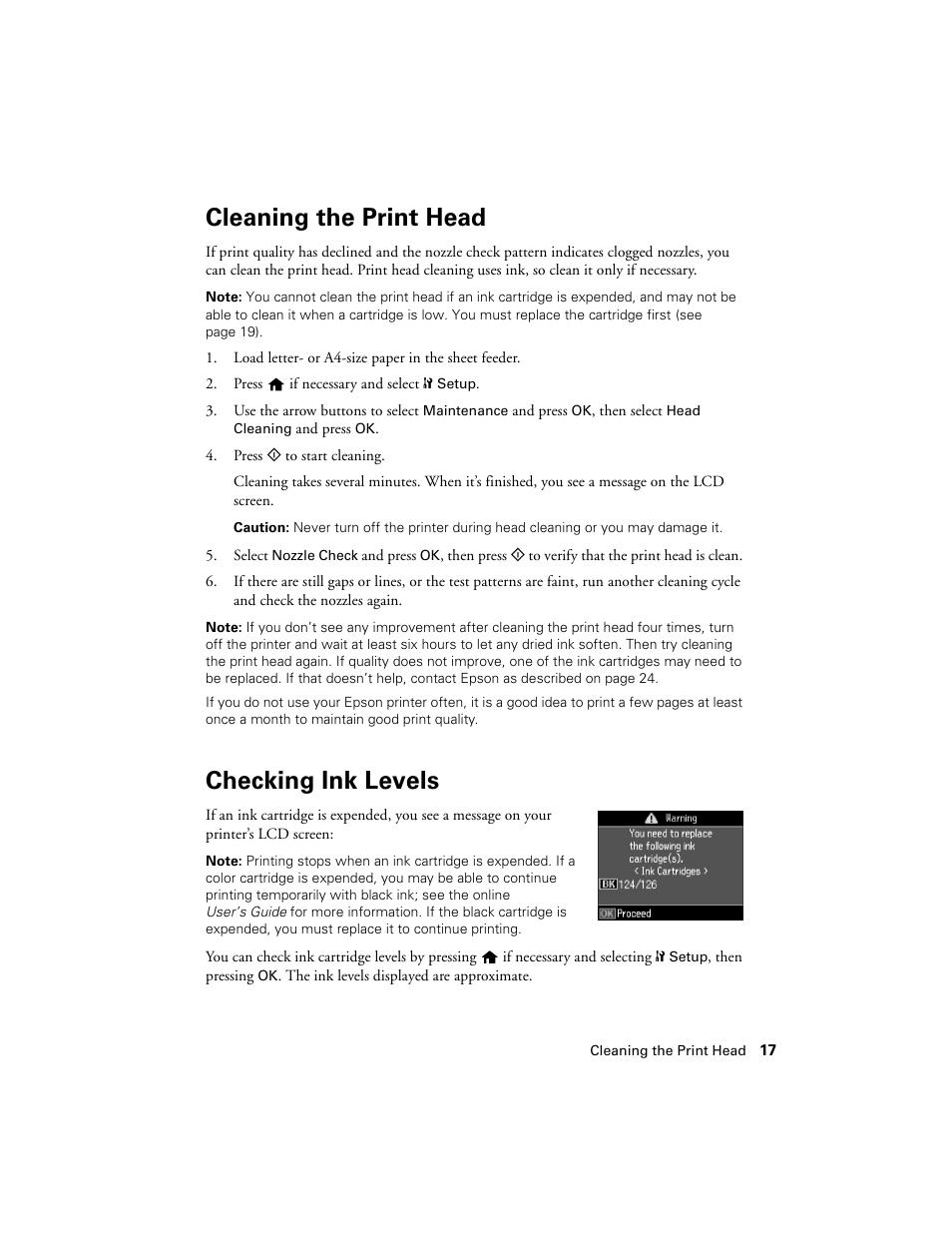 cleaning the print head checking ink levels epson nx430 user rh manualsdir com epson stylus nx430 user guide epson nx430 user guide online