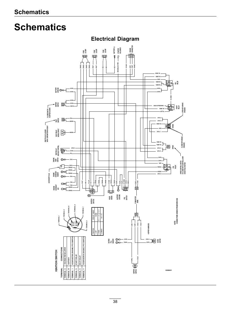 schematics, electrical diagram | exmark navigator 4500-367 user manual |  page 38 / 44 | original mode  manuals directory