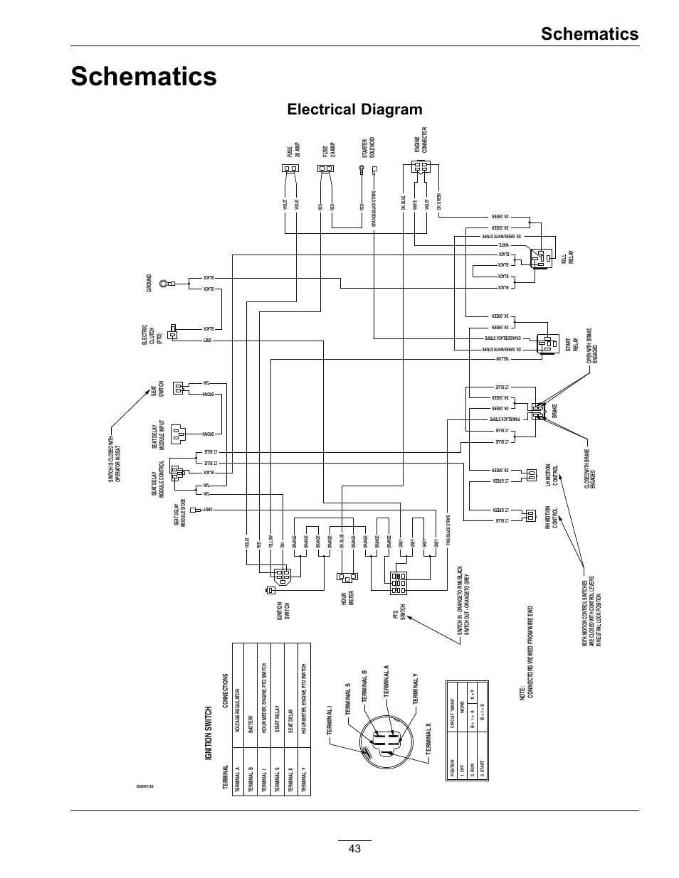 schematics  electrical diagram  ignition switch