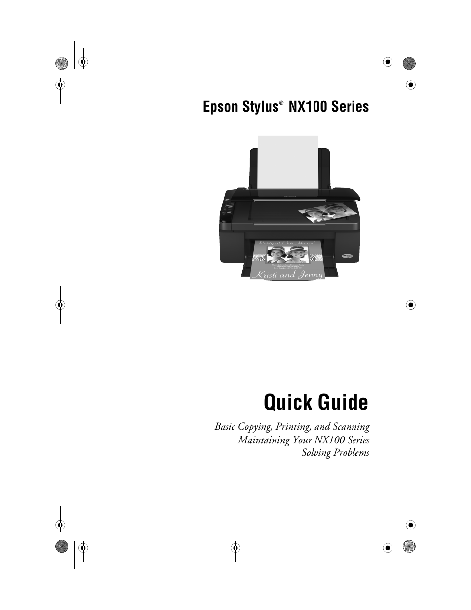 Epson Nx100 Manual Wiring Stock Camera To A Rosen Navigation N11 Toyota Fj Cruiser Array Stylus User 40 Pages Rh Manualsdir
