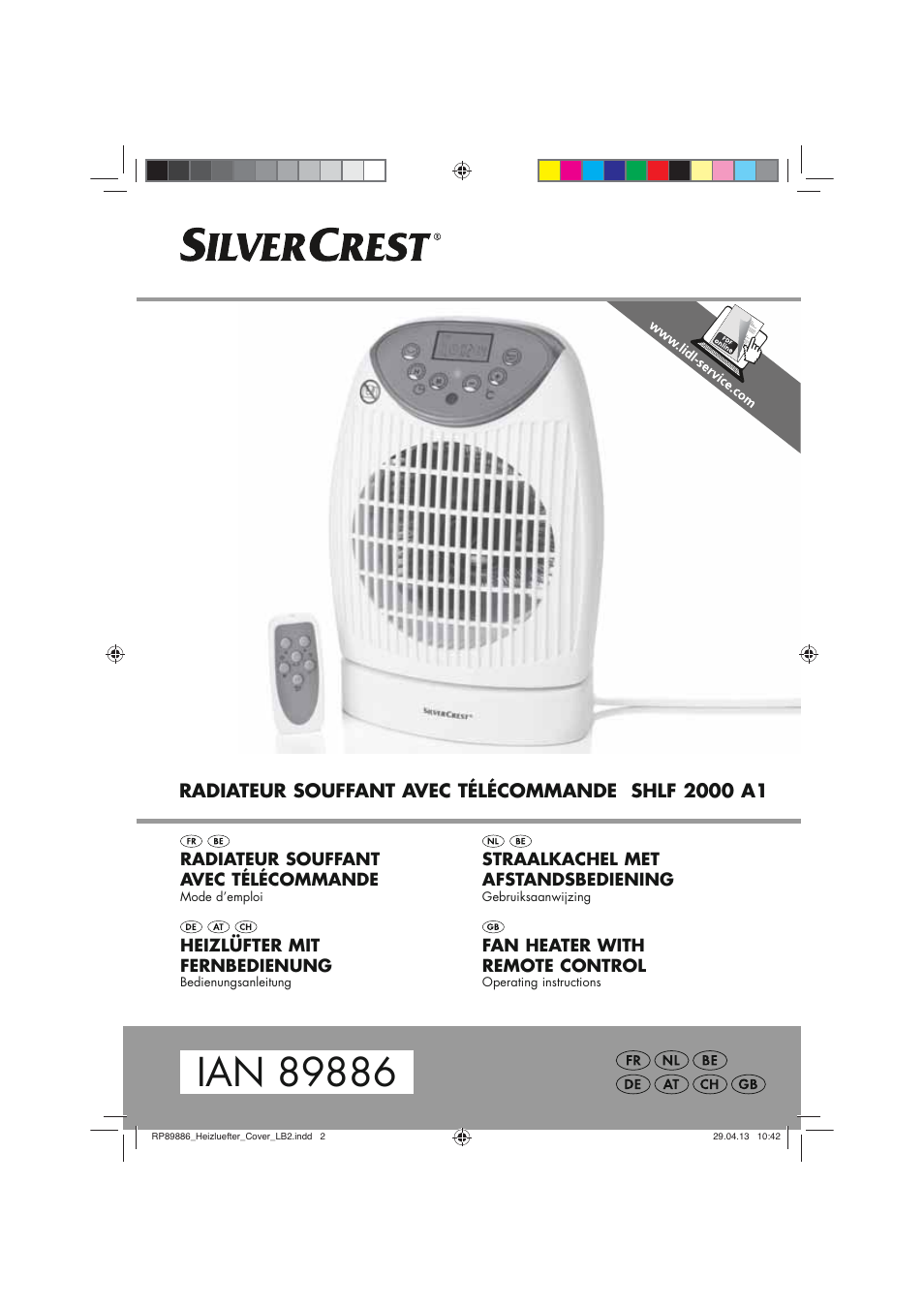Silvercrest Shlf 2000 A1 User Manual 54 Pages