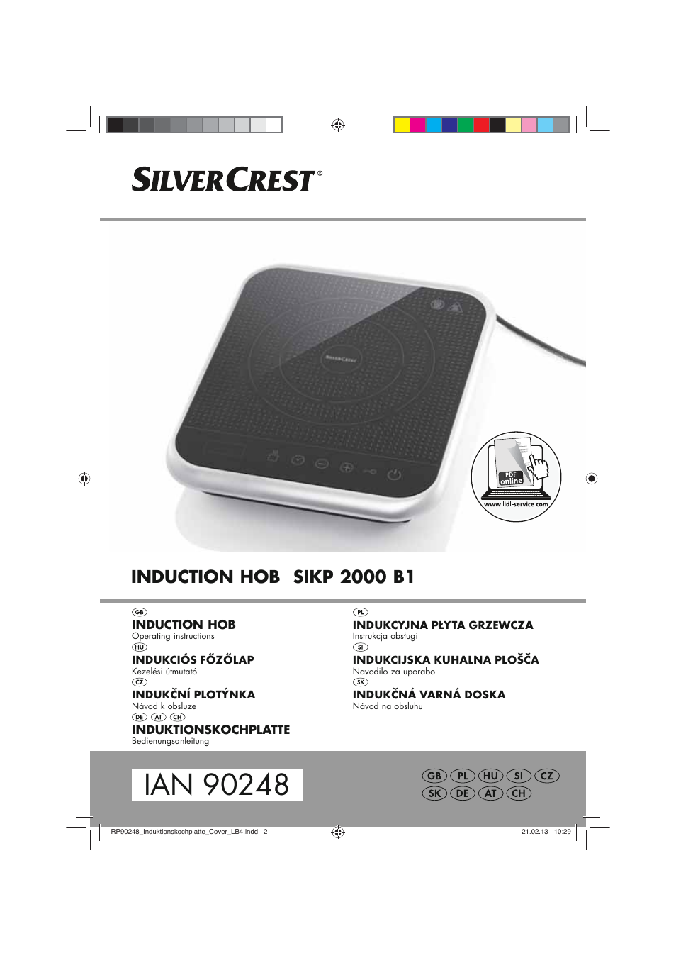 Silvercrest Sikp 2000 B1 User Manual 78 Pages