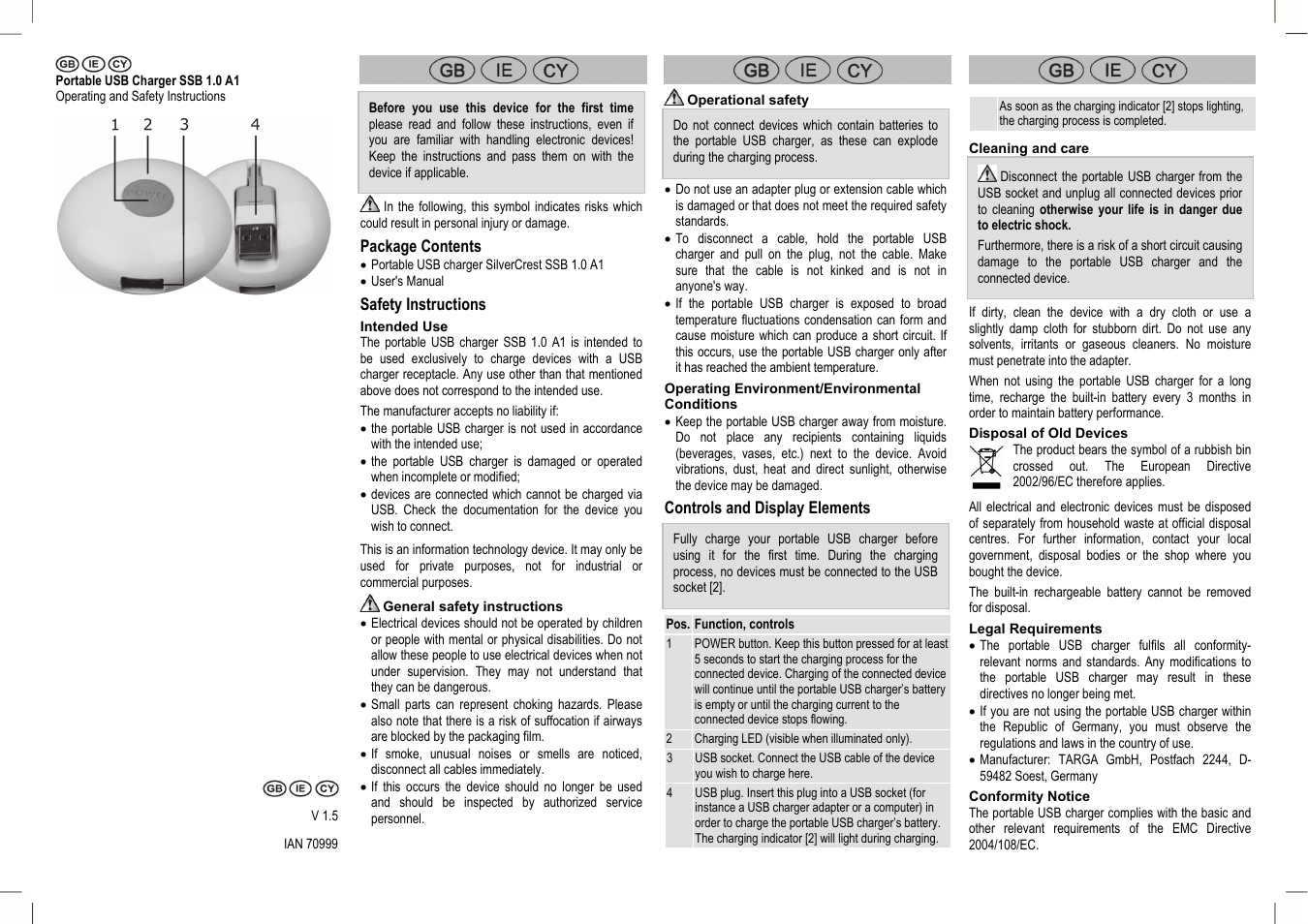 Silvercrest Ssb 10 A1 User Manual 4 Pages Nikon D40 Usb Cable Schematic