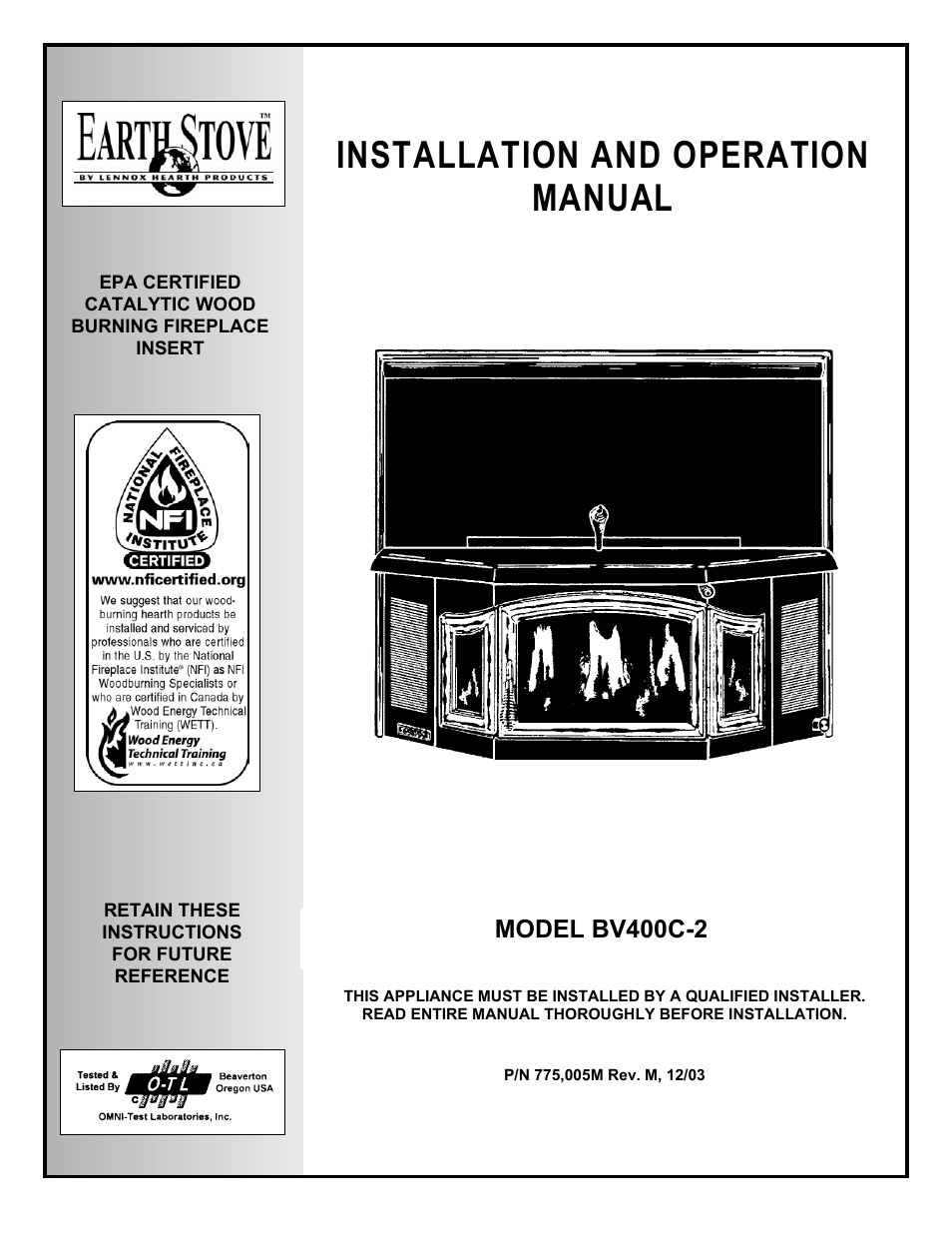 earthstone earth stove bv400c 2 user manual 28 pages