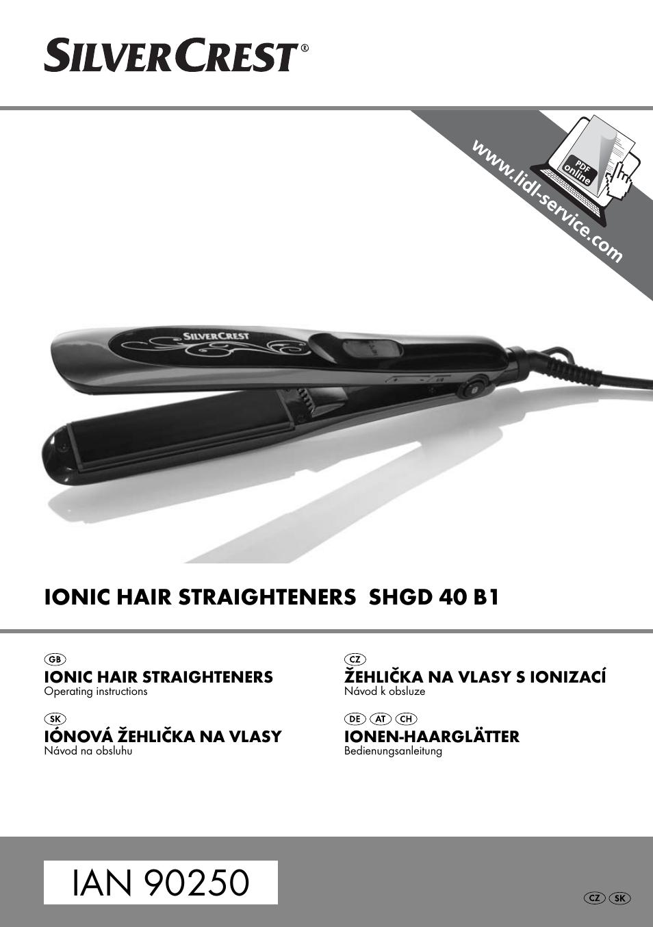 Silvercrest SHGD 40 B1 User Manual  72a8cfaf153
