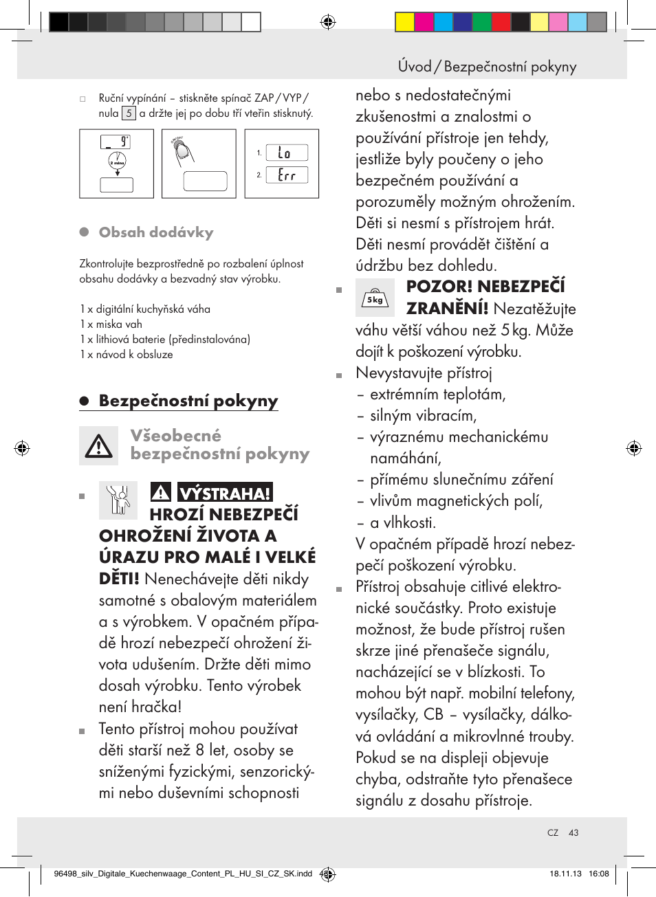 Silvercrest Z29852a Z29852b User Manual Page 43 69 Original Mode