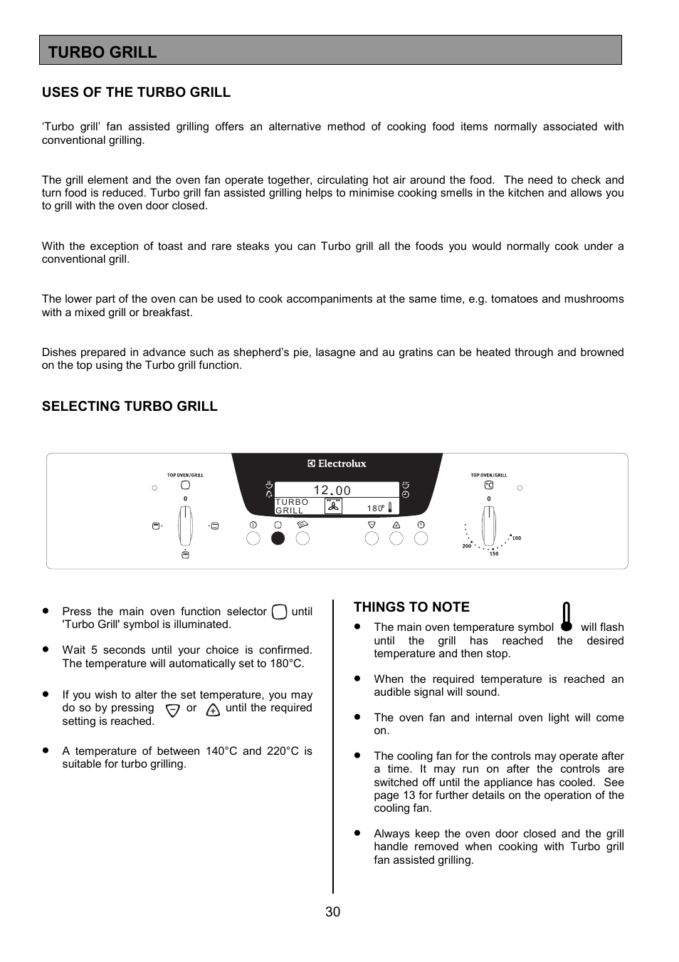 Turbo Grill Electrolux Eod6390 User Manual Page 30 52