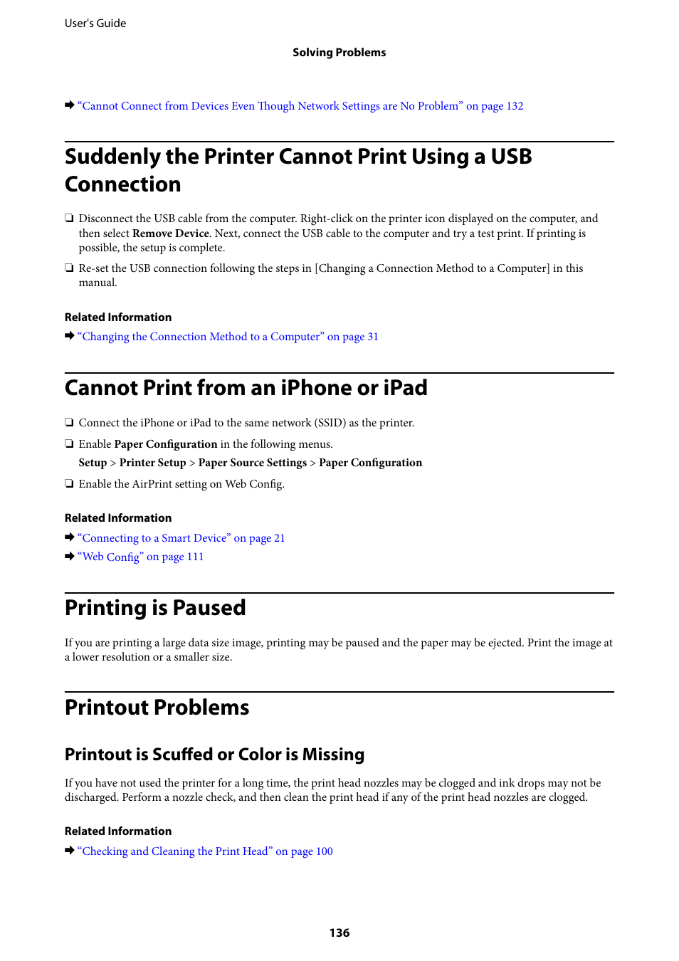 Cannot print from an iphone or ipad, Printing is paused