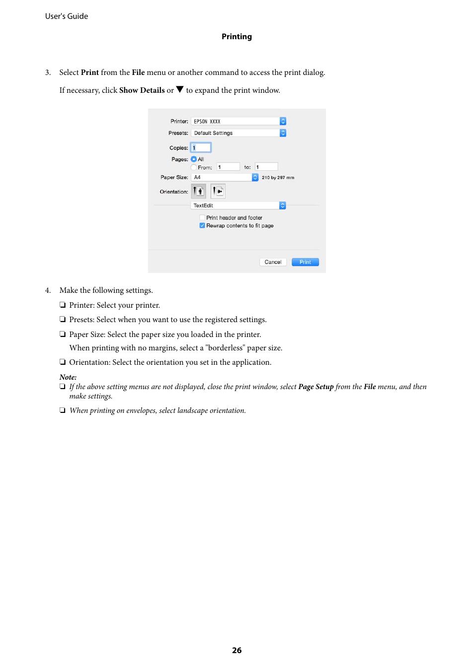Epson L805 User Manual   Page 26 / 93   Original mode