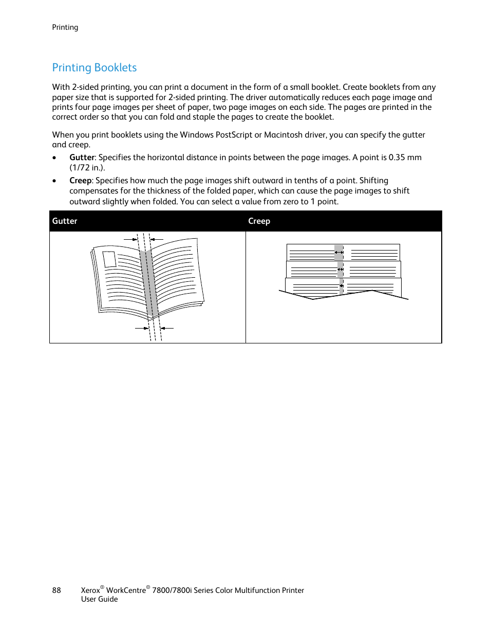 printing booklets xerox workcentre 7835ii user manual page 88 336