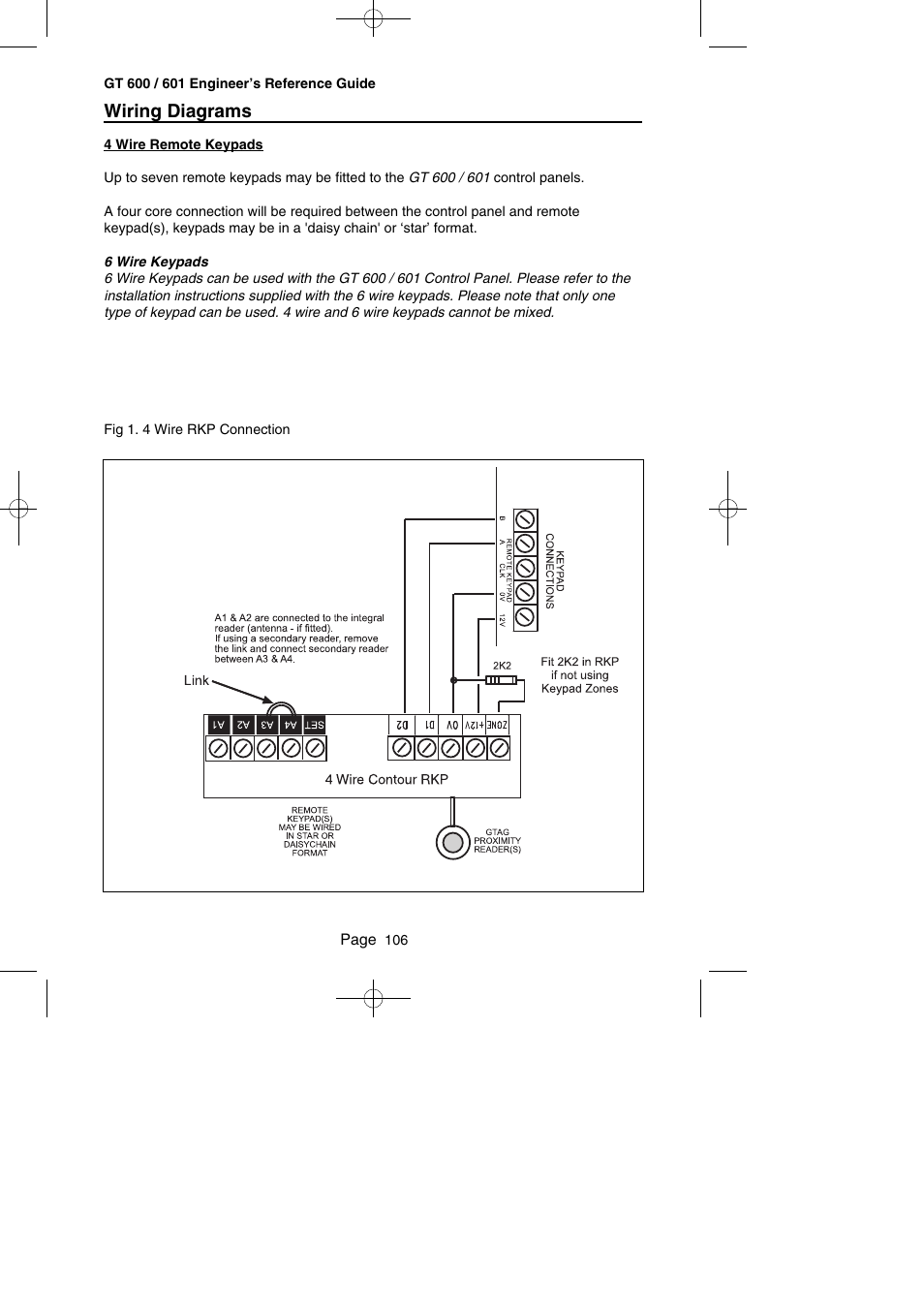 Wiring Diagrams Risco Group Gardtec Gt600 User Manual Page 108 128 6 Wire Diagram