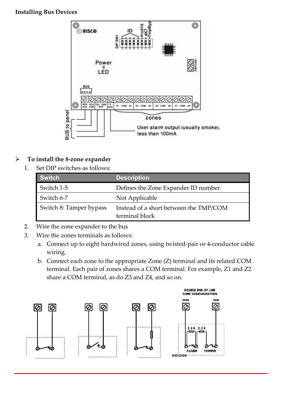 Installing Bus Devices Risco Group Lightsys 2 User Manual Page Twisted Pair Cable Schematic 42 256