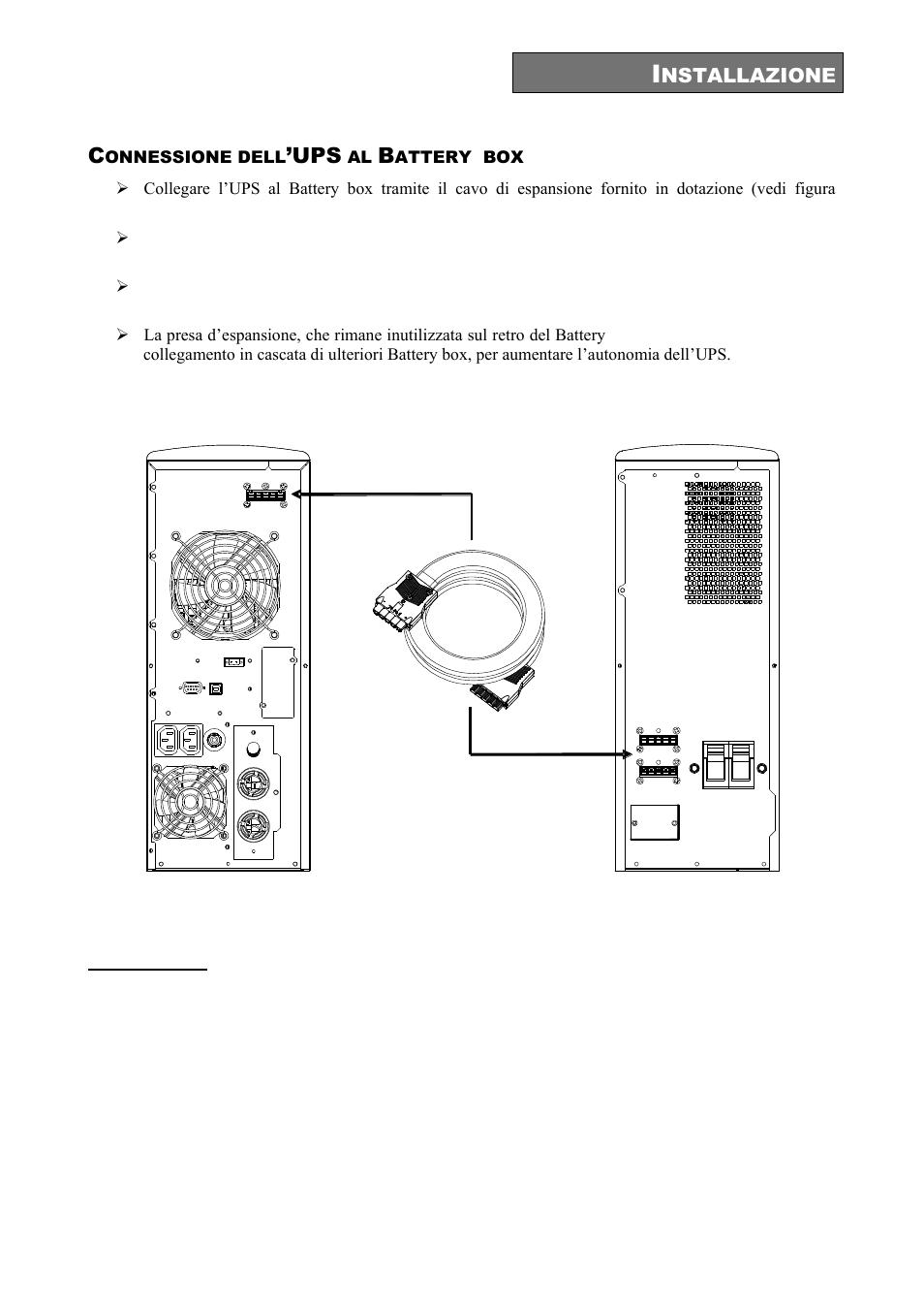Onnessione dell, Attery box | Riello UPS Sentinel Dual (High