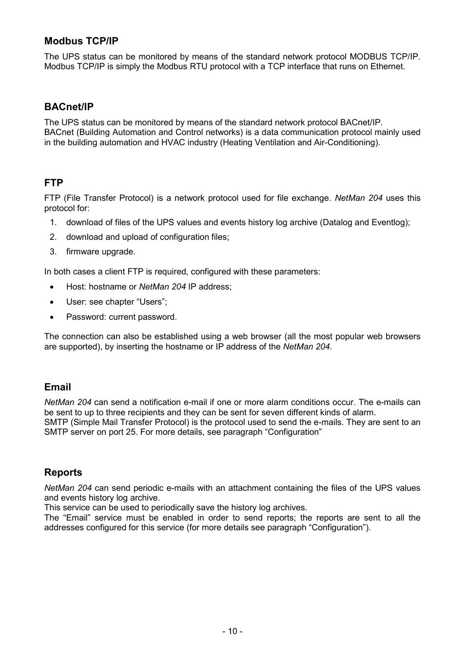 Riello Ups Service Manuals Circuit Diagram Array Modbus Tcp Ip Bacnet Email Netman 204 User Manual Rh Manualsdir