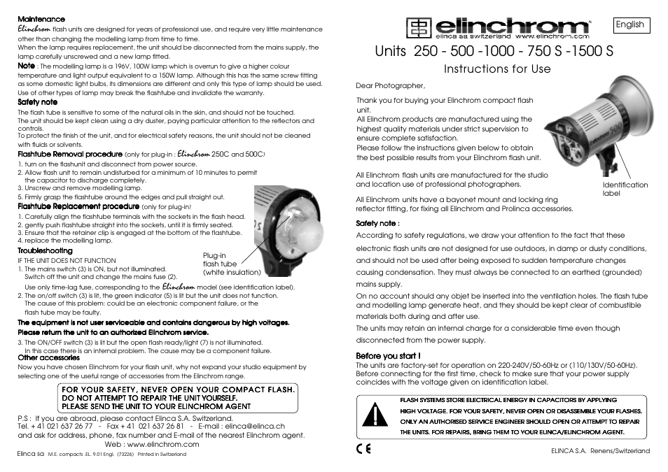 elinchrom 500 user manual 2 pages also for 250 1000 rh manualsdir com Manuals in PDF Instruction Manual Book