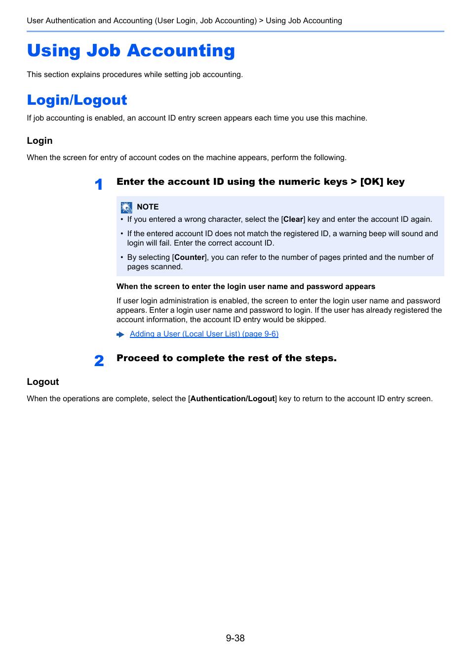 CLARICE: Match com log out