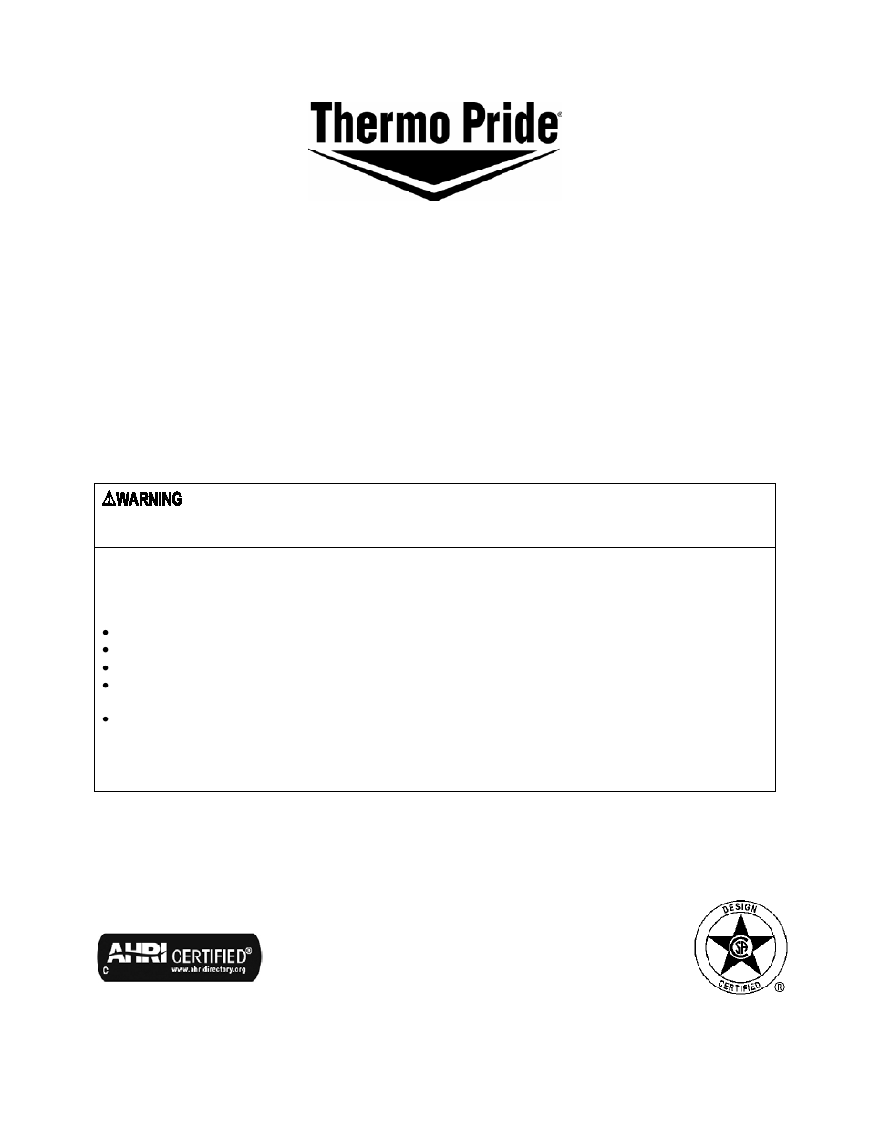 Thermo Pride Gas Propane Furnace Premiere Series 2 Stage Chx3 User Electric Refrigerator Wiring Schematic Manual 65 Pages Also For Cdx3