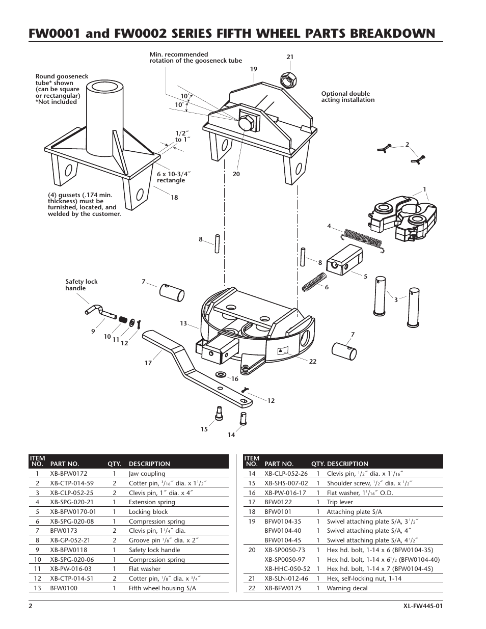 holland fifth wheel parts pdf