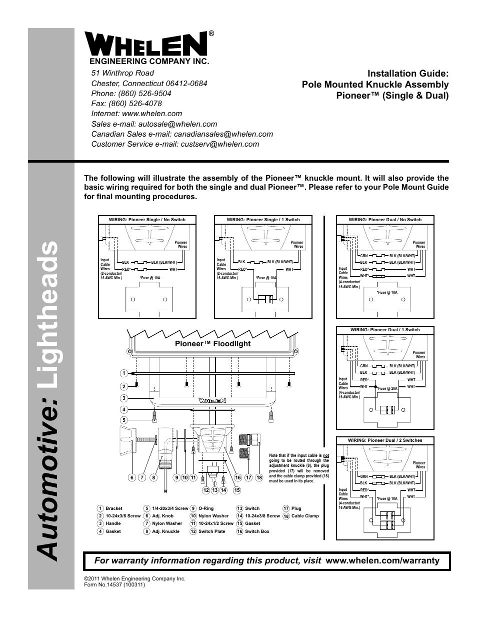 Whelen Pfa1p User Manual 1 Page Also For Pfa1p1 Pfp1p Pfp1p1 Switch Box Wiring Diagram Pfa2p Pfa2p1 Pfp2p Pfp2p1 Psp1p Psp1p1 Pcp2p Pcp2p2