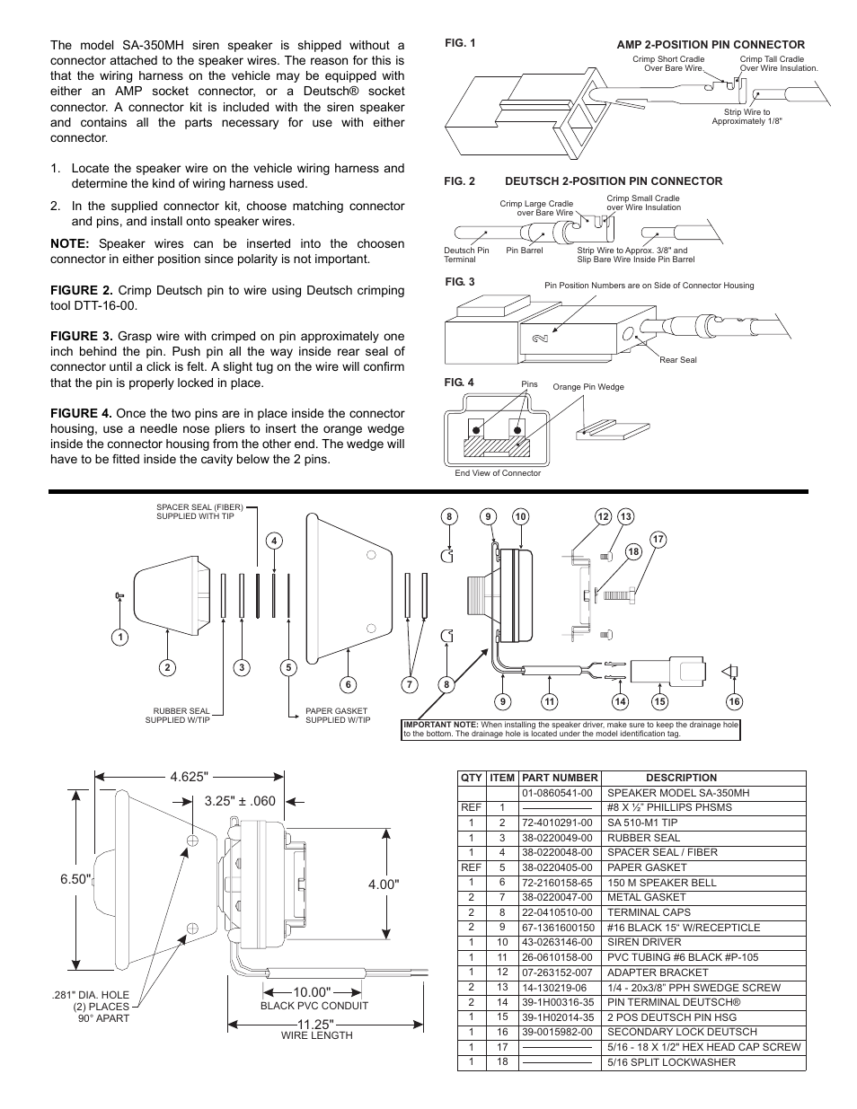 Whelen Sa350mh User Manual Page 2 Mh Wiring Harness