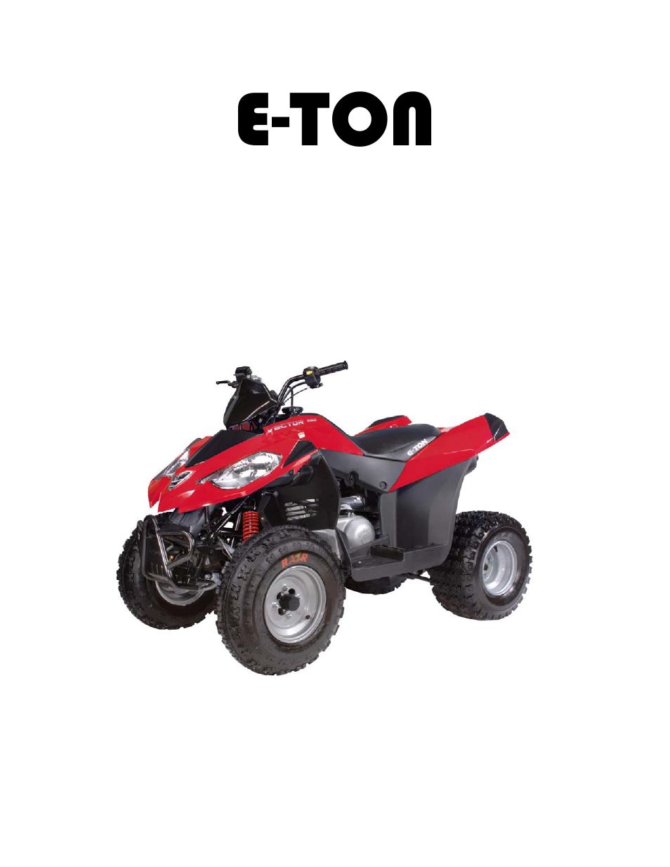 ... Array - eton vector 250r user manual 32 pages rh manualsdir ...
