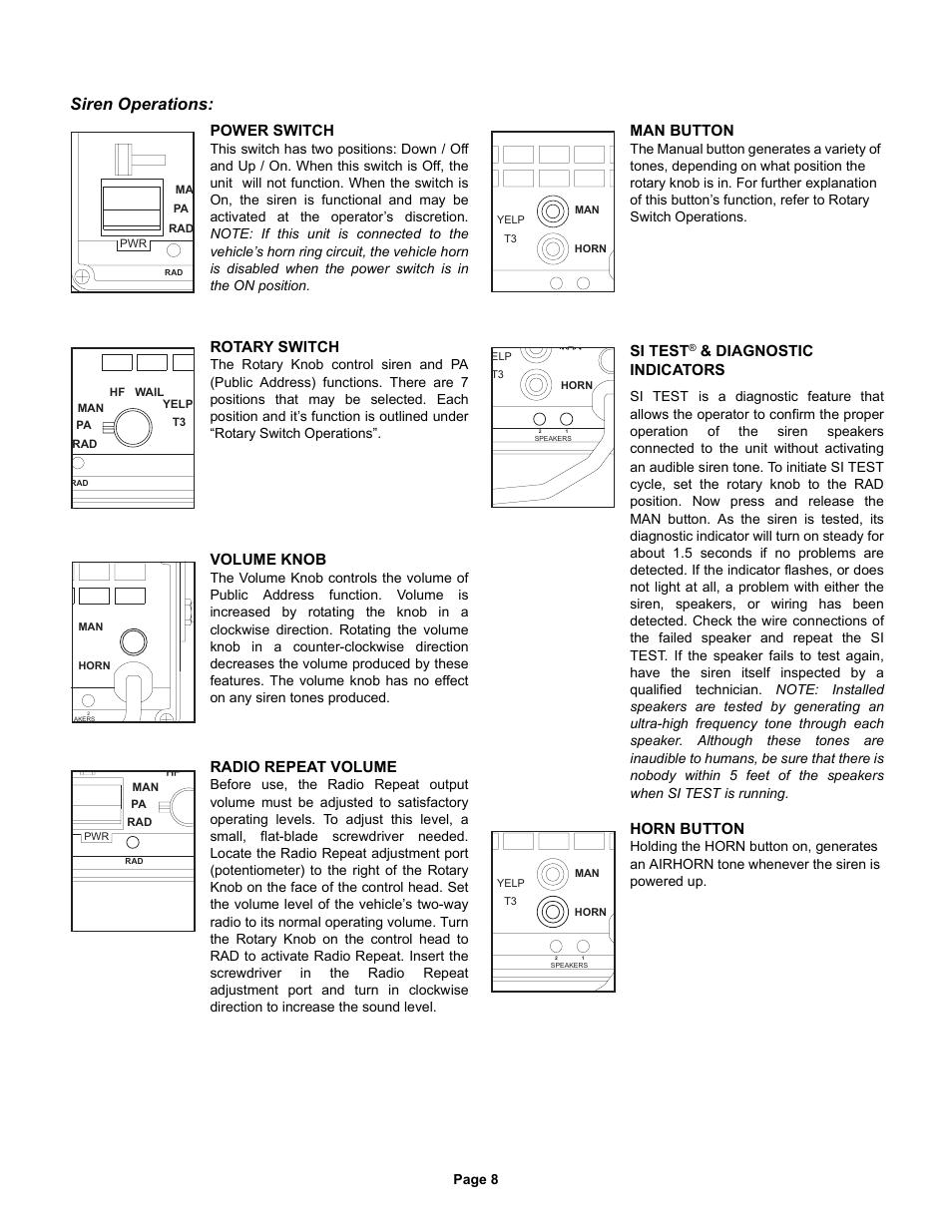 Whelen 295hfsa5 Installation Manual Data Wiring Diagrams How To Install Siren Operations Power Switch Rotary User Rh Manualsdir Com 295slsa6 295hfsa6