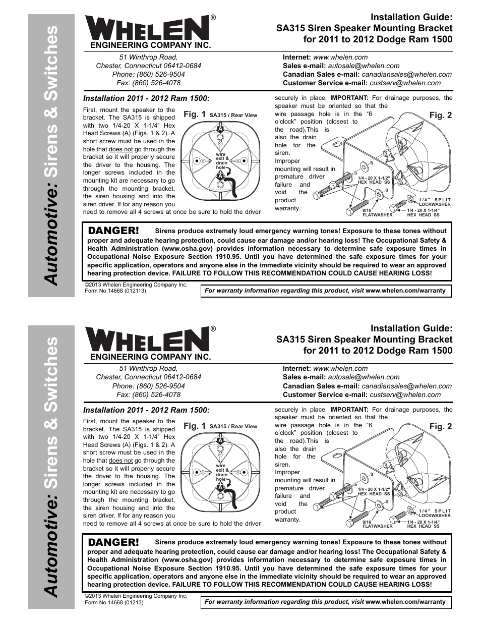 Whelen Siren Speaker Wiring Diagram Free Download Sak47 User Manual 2 Pages Also For Sak48 9m At