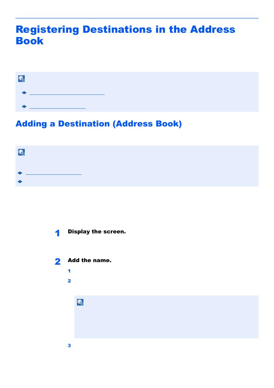 Kyocera Address Book