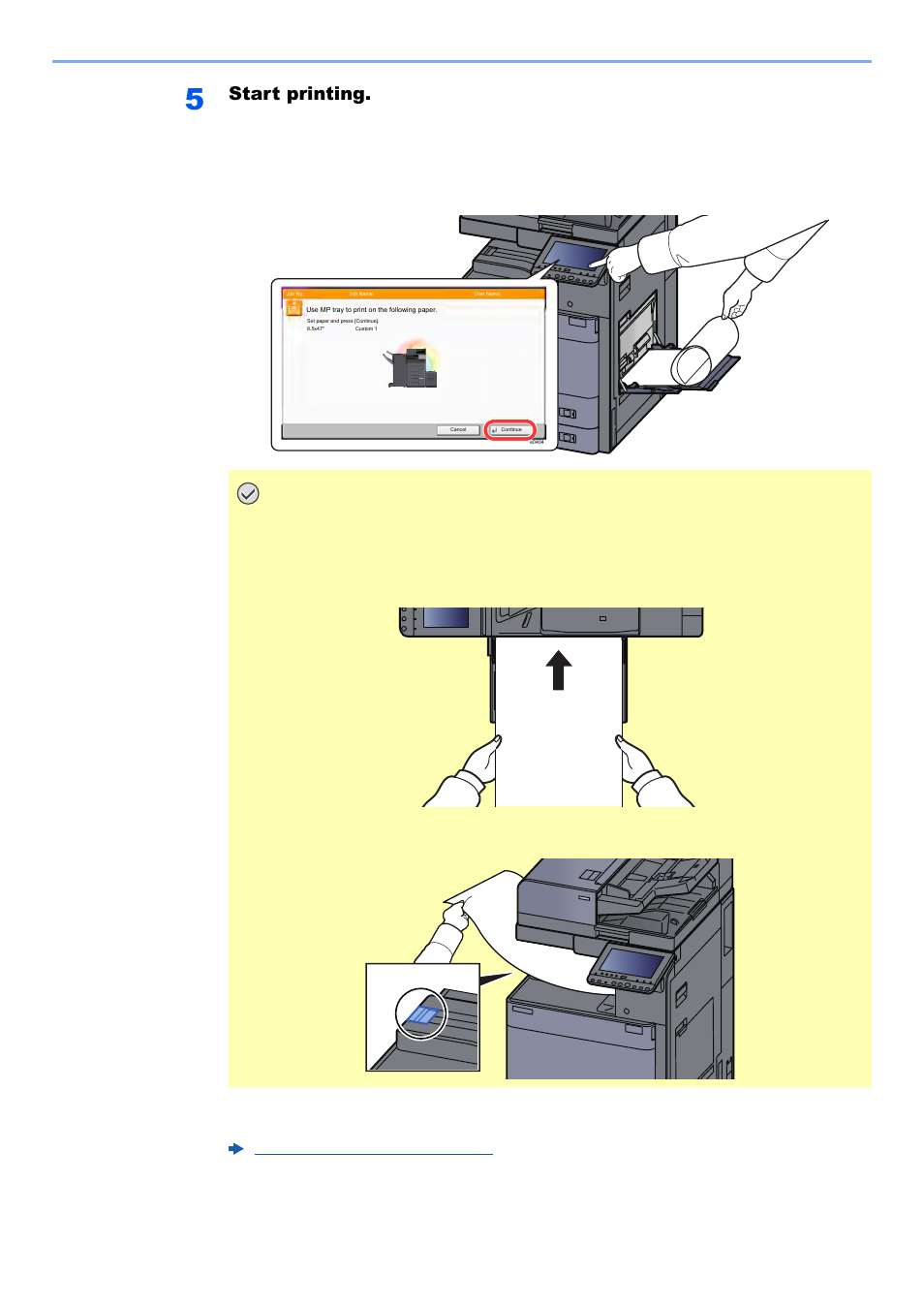 Start printing | Kyocera TASKalfa 2552ci User Manual | Page 193 / 682