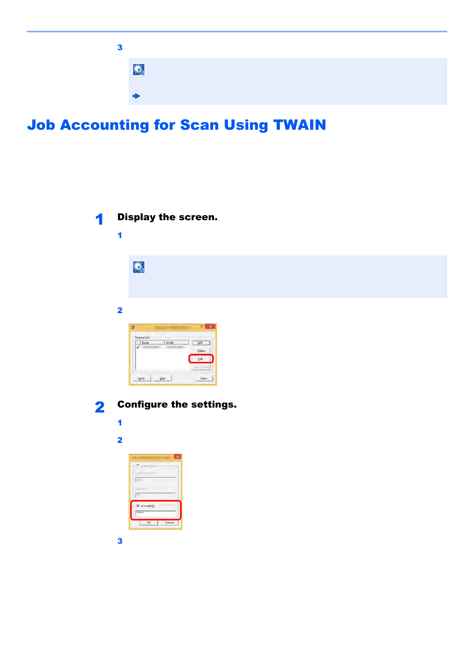 Job accounting for scan using twain, Job accounting for scan