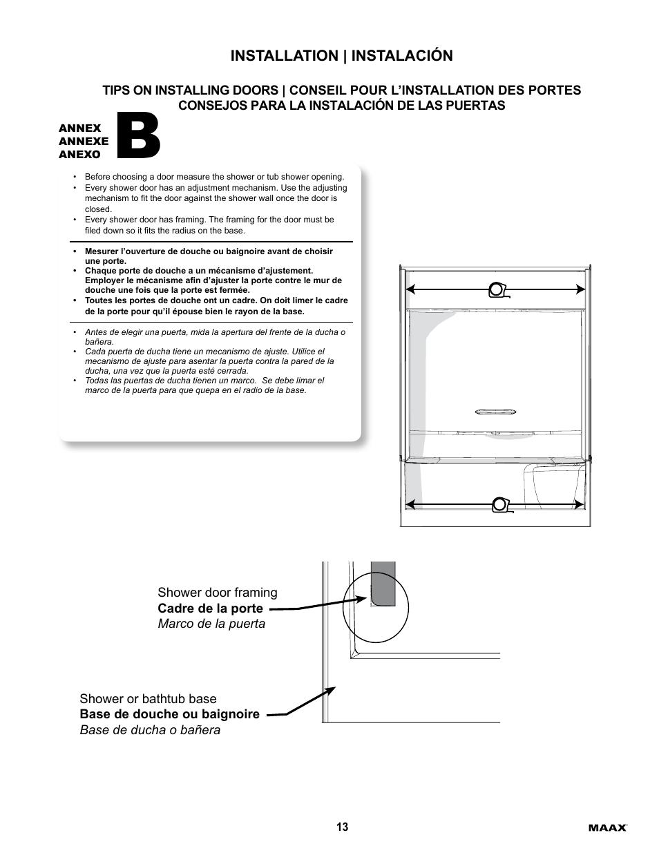 Installation Instalacin Maax Essence To 6030 User Manual Page