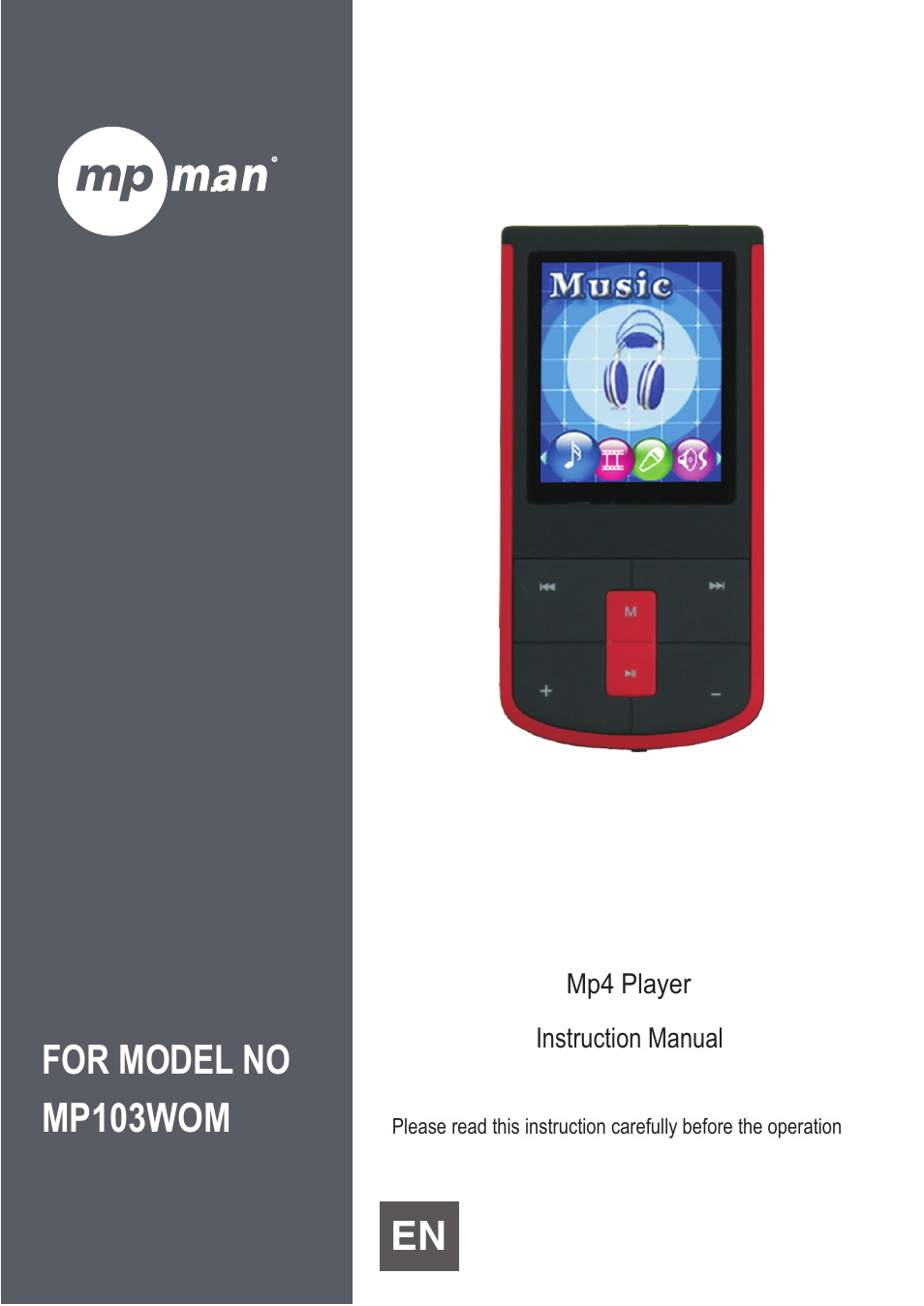 mpman mp103wom user manual 10 pages rh manualsdir com Kodak EasyShare Instruction  Manual iPod Instruction Manual