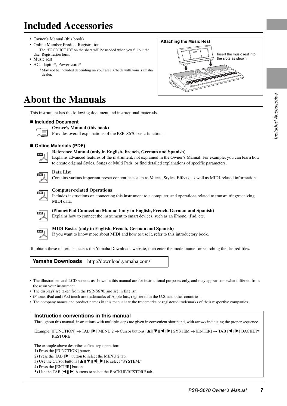 included accessories about the manuals yamaha psr s670 user rh manualsdir com yamaha e403 instruction manual yamaha instruction manual for tmax dx 2017