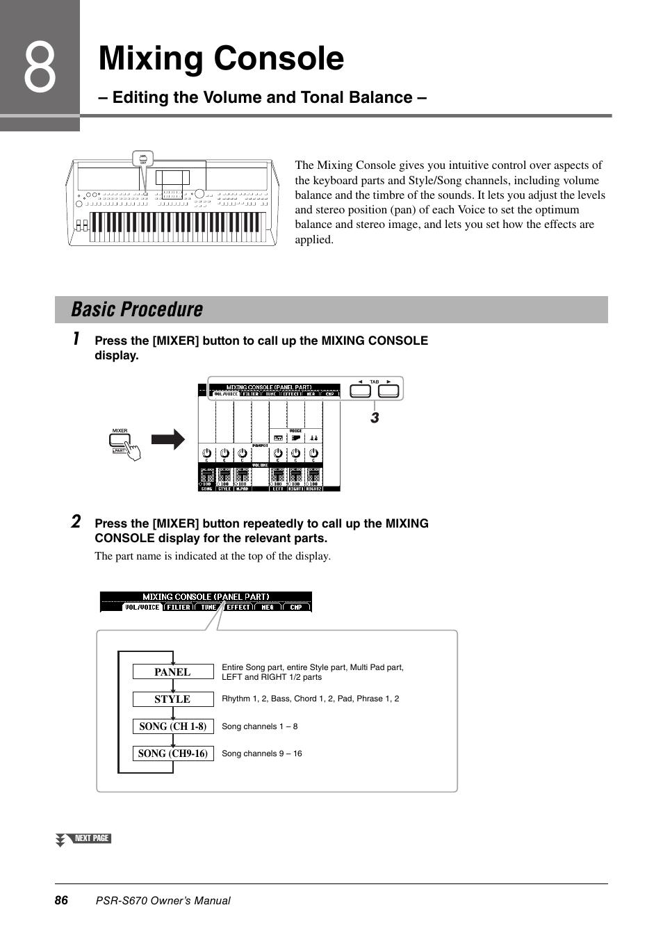 ... Array - basic procedure mixing console yamaha psr s670 user manual page  rh manualsdir com