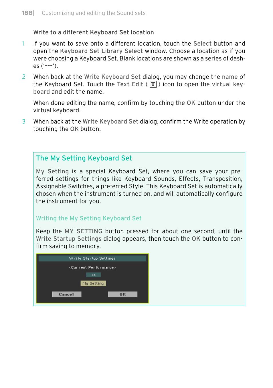 The my setting keyboard set | KORG PA4X 76 User Manual | Page 192 / 1074