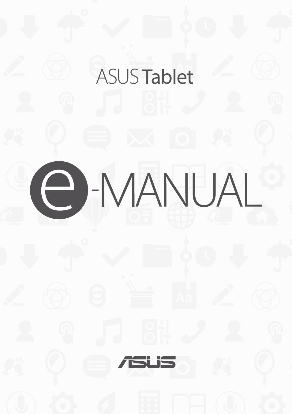 Asus ZenPad 10 (Z300M) User Manual | 126 pages