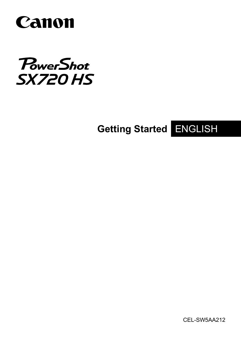 Canon PowerShot SX720 HS User Manual