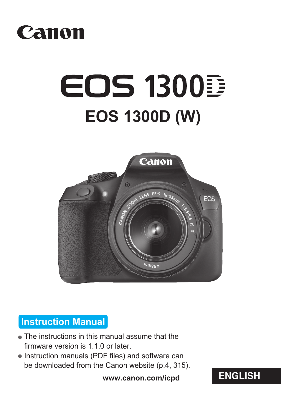 Canon Eos 1300d User Manual 326 Pages